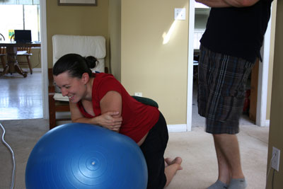 Laughing-on-birth-ball