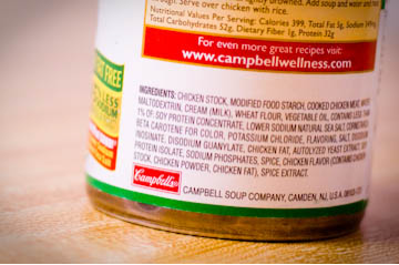 Cambells soup ingredients